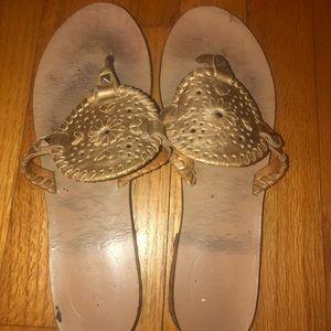 Jack Rogers Gold Georgica Sandals